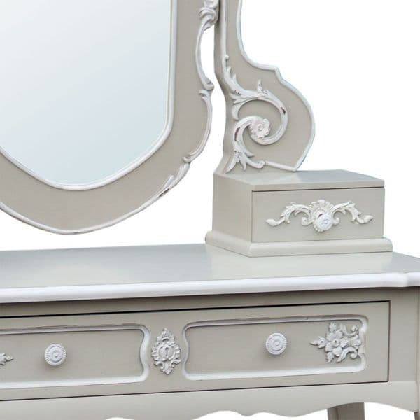 Charmont Grey Dressing Table with Mirror